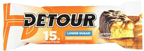 Detour 15g Whey Protein Bar, Lower Sugar, 9 pk, Caramel Pean