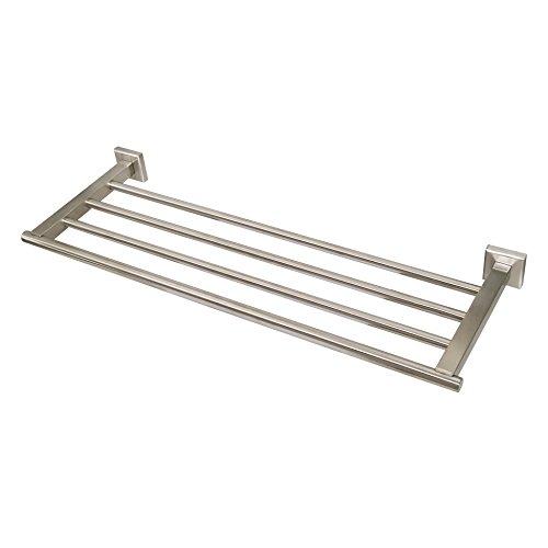 """WEBI 23.5"""" Four-Bar Sturdy SUS 304 Towel Bar, Heavy Duty Wall Mounted, for Bathroom, Bedroom, Kitchen, Garage, Storage Room, Foyer, Hallway, Entryway, Brushed Finish"""