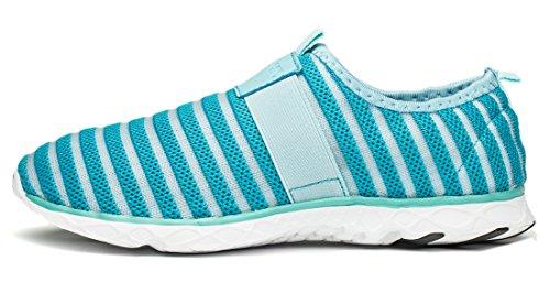 Wonvatu Aqua Chaussures Pour Femmes Hommes À Séchage Rapide Chaussures De Marche En Plein Air Plage Bleu
