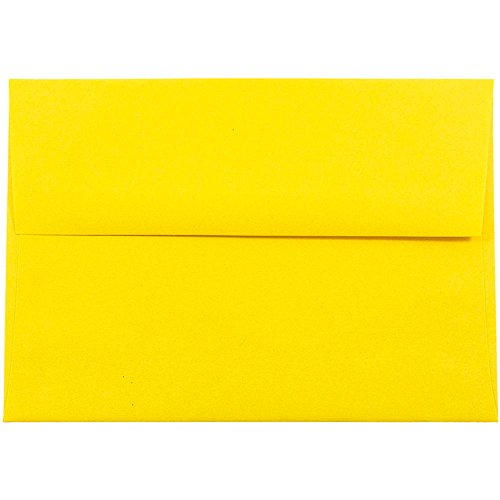 - JAM PAPER A7 Colored Invitation Envelopes - 5 1/4 x 7 1/4 - Yellow Recycled - 50/Pack