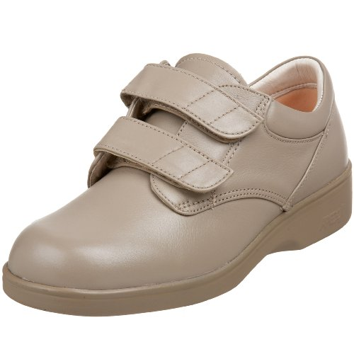 Apex Women's Conform Double Strap Sneaker, Taupe, 7 Wide US