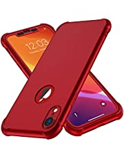 ORETECH iPhone XR Case with [2 x Tempered Glass Screen Protector]