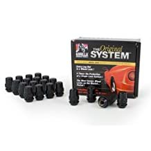 "Gorilla Automotive 71633NBC ""The System"" Acorn Black Chrome Wheel Locks (12mm X 1.50 Thread Size)-for 5 Lug Wheels"
