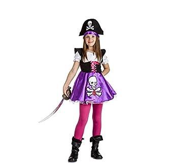 Disfraz de Pirata Calavera para niña: Amazon.es: Juguetes y juegos