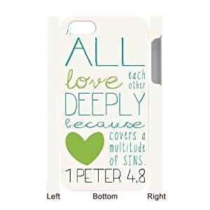 Christian,Bible Verses Quotes DIY 3D Cover Case for Iphone 4,4S,personalized phone case ygtg-768331