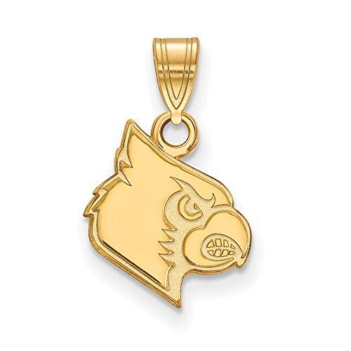Louisville Small (1/2 Inch) Pendant (14k Yellow Gold) by LogoArt