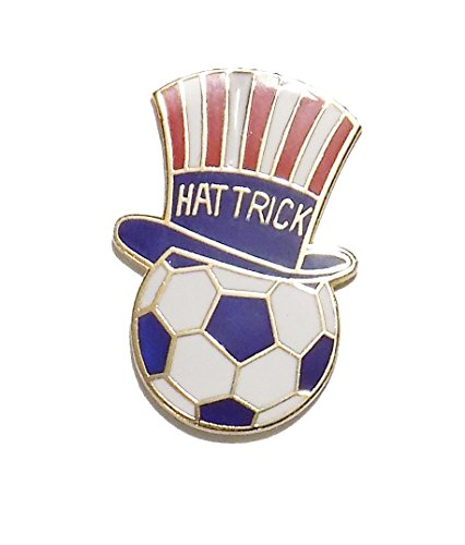 # 54 Soccer Hat Trick Pin (1 inch actual size)