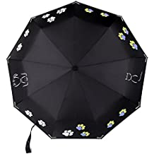 Premium Color Changing Umbrella with Reflective Safety Strips, Auto Open/Close and Windproof Design