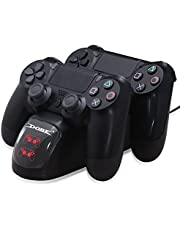 PS4 Dual Charger Docking Station for DS4 - ElecGear Fast Twin USB Charging Dock Display Stand with LED Indicator for Playstation /PS4 /PS4 Pro /PS4 Slim Wireless Controller