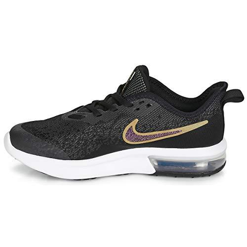 Sh Air Donna Da Scarpe Multicolore Max black white 001 Gold 4 metallic Sequent Fitness Nike metallic Gold gs Iwd0qI