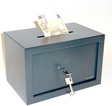 Caja Fuerte, caja fuerte con ranura – aprox. 21L – doble llave de ...