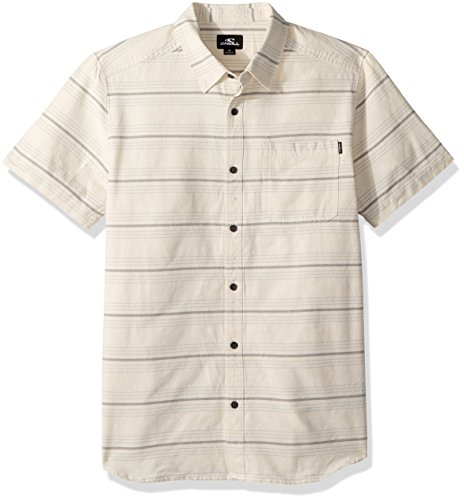 - O'Neill Men's Casual Modern Fit Short Sleeve Woven Button Down Shirt, White/Culprit, XXL