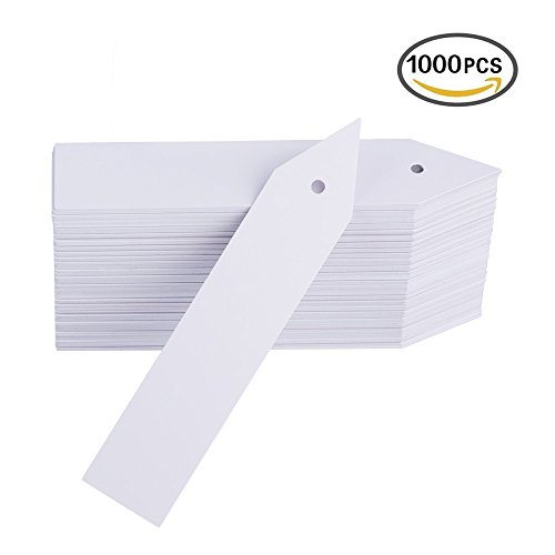 Plastic Plant Stakes (1000 Pcs Plastic Plant Labels Tags 4 Inch Garden Marker with Hole for Seed Trays and Pots Greenhouse Supplies by Mkono)