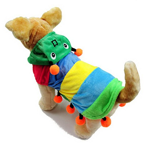 [SELMAI Caterpillar Dog Halloween Costumes Pet Hoodies Fleece Dog Coat Small Puppy Clothes L] (Halloween Ideas For Couples)