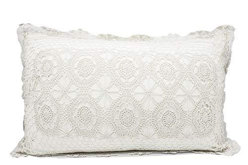 - Fennco Styles Handmade Crochet Lace Cotton Tablecloth (20