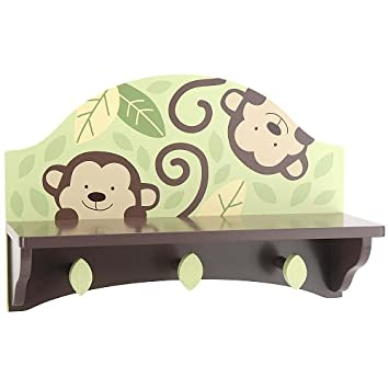 Amazon.com : Little Boutique Monkey Wall Shelf : Nursery Wall Decor ...