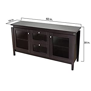 Furniture of America Mackle Coffee Bean Contemporary Buffet Cabinet