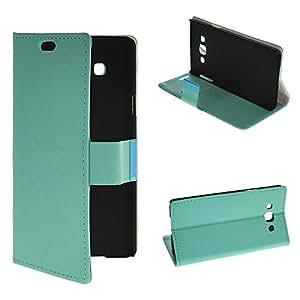Samsung Galaxy A7,OneWind [Aqua] Stylish Folio Case Magnetic Closure Wallet Flip Cover for Samsung Galaxy A7