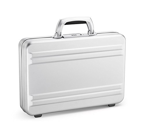 Zero Halliburton Super Slimline Aluminum Attache Case in Silver ()