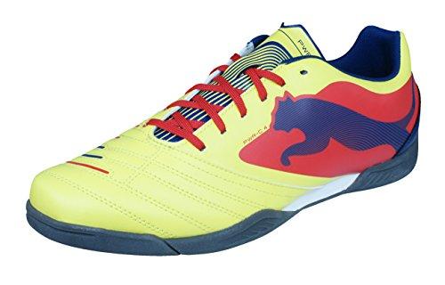 PUMA Powercat 4 IT Mens Futsal Indoor Soccer Trainers-Yellow-7.5