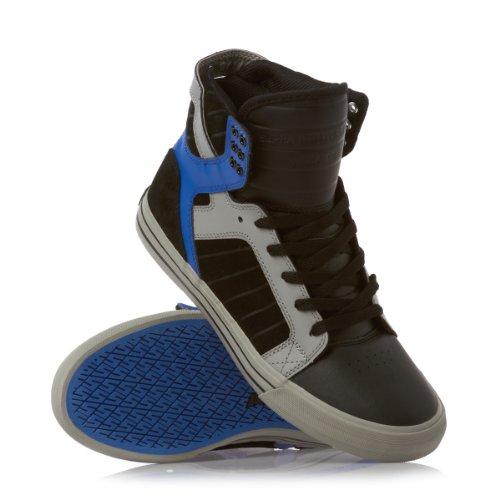 Supra SKYTOP S18154 Unisex - Erwachsene Sportive Sneakers Schwarz/Grau/Blau