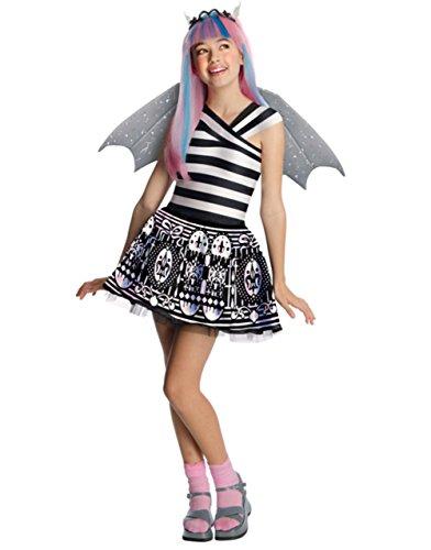[Girl Monster High Rochelle Goyle Girl Costume And Wig Bundle Small 4-6] (Monster High Rochelle Goyle Wig)