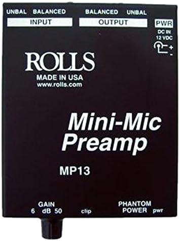 rolls Mini Microphone Preamp, Black (MP13)