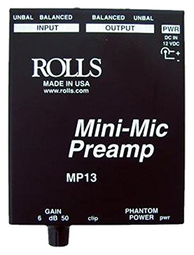 rolls Mini Single Ch Mic Preamp (MP13) by rolls