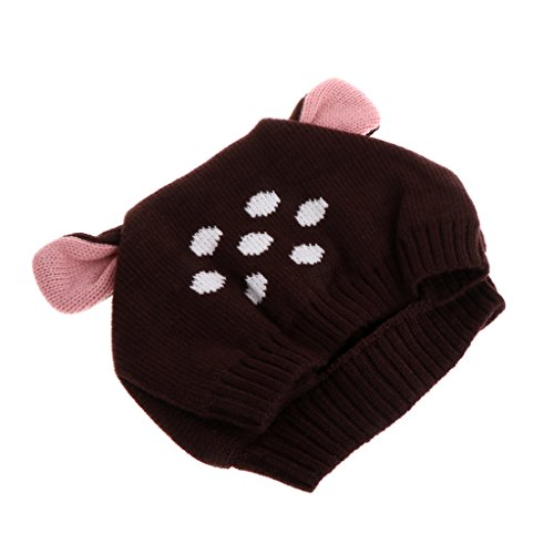 App Costume Ideas (Mimgo Cute Deer Ear Baby Toddler Boys Girls Cartoon Winter Warm Beanie Hat Knitted Crochet Cap (Coffee))