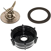 Blendin Ice Crusher Blade with Jar Base Cap, Rubber O Ring Sealing Ring Gasket Combo, Fits Oster Blenders