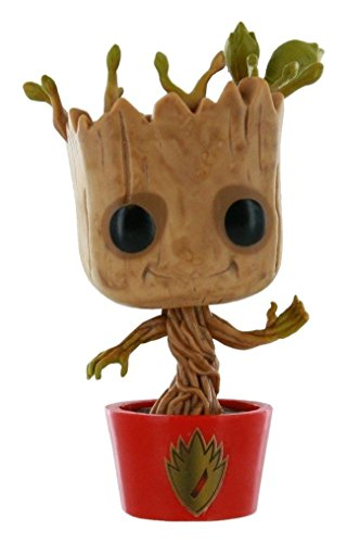 Funko Marvel Guardians of the Galaxy POP! Marvel Dancing Groot Exclusive Vinyl Bobble Head #65 [Red Pot with Ravagers Logo]
