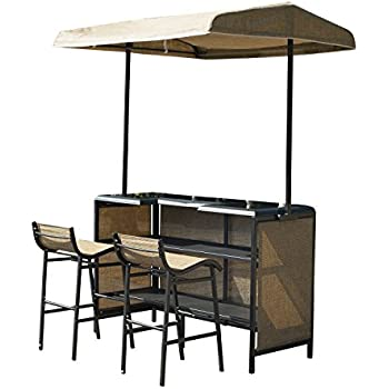 Outsunny 3 Piece Outdoor Mesh Cloth Canopy Bar Set - Table u0026 Two Chairs  sc 1 st  Amazon.com & Amazon.com : Outsunny 3 Piece Outdoor Mesh Cloth Canopy Bar Set ...