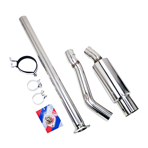 Rev9(CB-304) Single Exit Cat-Back Exhaust Kit, Stainless Steel, 3 Inch Pipe, 4.5 Inch Tip with Silencer, Mitsubishi Evolution X -