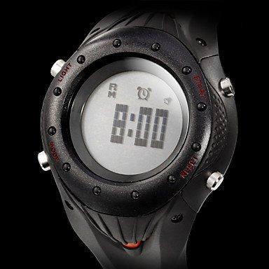 Unisex Pulsómetro Rubber Band Digital reloj automático con la banda ...