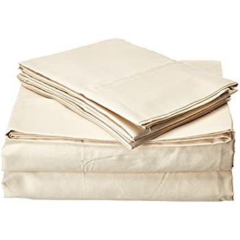 King, Khaki Francois et Mimi 800 Thread Count 100/% Egyptian Cotton Luxury Deep Pocket Sheet Set