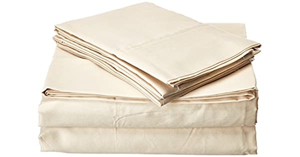 Francois et Mimi T400QI 400 Thread Count 100/% Cotton Sheet Set Queen Ivory Francois et Mimi Inc.