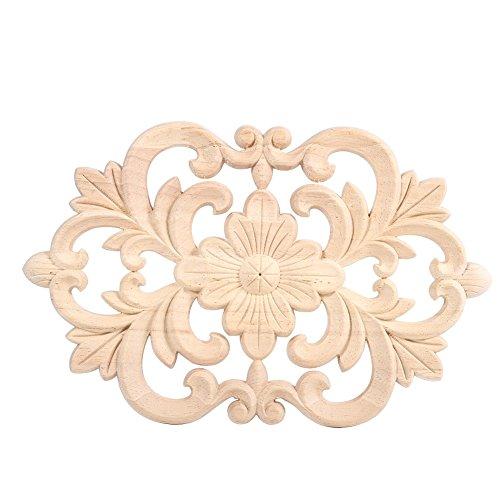 (Fdit Corner Onlay Decoration European Style Wood Carved Furniture Applique Unpainted Furniture for Home Door Cabinet?3019CM)