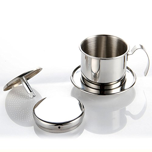 Single Cup Coffee Maker Office Use : Coffee Maker Pot, Stainless Steel Vietnamese Coffee Drip Filter Maker Single Cup Coffee Drip ...
