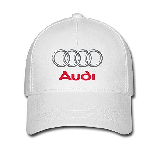 daaf4fce2c737 Hittings Unisex Audi Logo Baseball Caps Hat One Size White