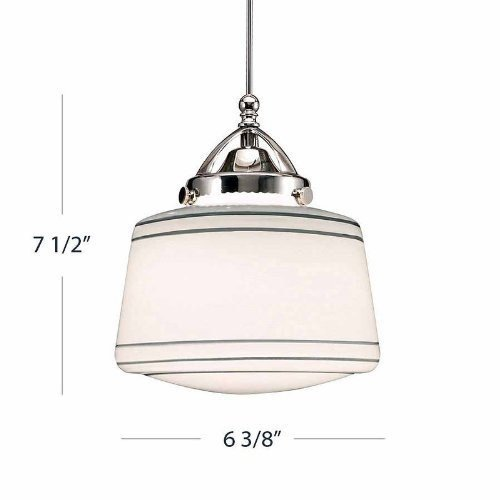 WAC Lighting QP-LED494-SL/BN Plymouth Quick Connect LEDme Pendant, Silver Shade with Brushed Nickel Socket Set