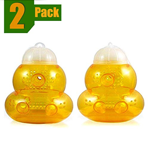 Aspectek Wasp Trap 2-pack - Traps Wasps, Hornets, Yellow Jackets / Wasp Repellent, Hornet Trap, Bee...