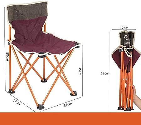 WXZB silla plegable, taburete plegable portátil, silla de ...
