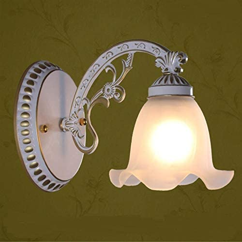 2Pcs Single Headlight Upscale Bathroom Mirror Light Retro Aisle Lamp Bedroom Fg597-Lampshade_2_Flower_Style_Bronze