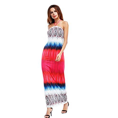 WANG Sommerkleid Sexy Frauen Slim Backless Wrapped Beach Dress (Größe : L) lB9sE1