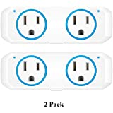 Oukitel Smart Wi-Fi Plug, Alexa Echo Plug,2 in 1 Smart Plug Mini Outlet With Timer Wi-Fi Smart Socket Switch Voice and App Controlled,Compatible with Alexa Echo,Google Home and IFTTT (2, blue)
