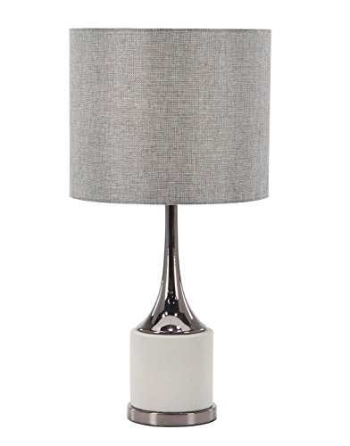 Deco 79 39983 Table Lamp, Light Dark Gray