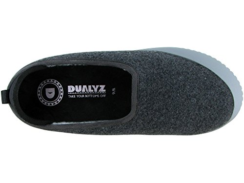 Dualyz Unisex Kush Classic Slipper Met Afneembare Zool Donkergrijs / Lichtgrijs