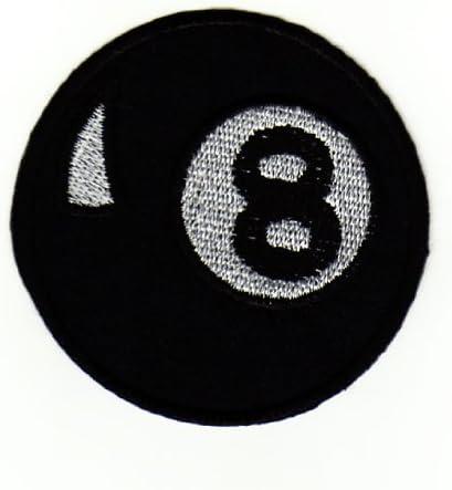 Bola de billar billiard Negro 8 Ball parche plancha de planchar ...
