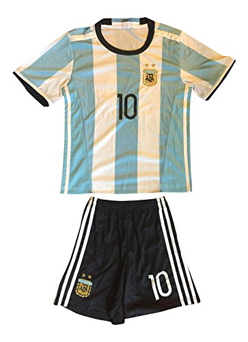 Soccer Shirts Barcelona - FWC Argentina Home Messi 10 futbol football soccer jersey & short (6-7 years)