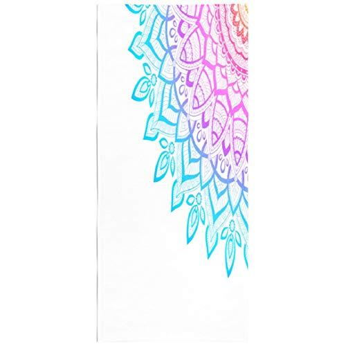 - LILYMUA Mandala Quick Dry Beach Towel,Microfiber Beach Towel, Wallpaper Texture Pattern Round Mandala Flyer Poster Stress Beach Blanket 30